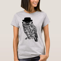 "Basic T-shirt ""GENTLEMAN OWL """