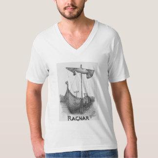 Basic t-shirt Masculine Boat Viking Ragnar