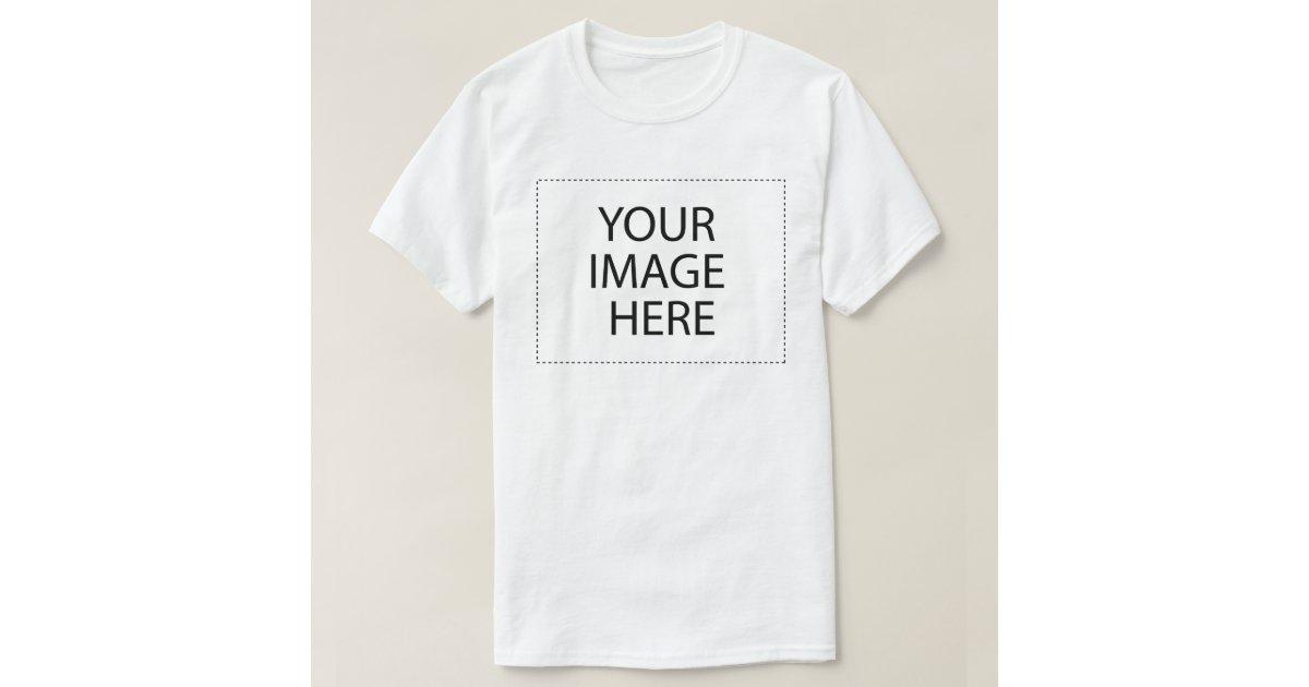 Basic t shirt template zazzle for Zazzle t shirt template