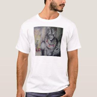 Basic T-Shirt Template of Kenyan Masai Tribe