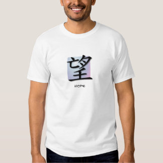 Basic T-Shirts Chinese Symbol For Hope On Sphere