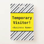 """[ Thumbnail: Basic """"Temporary Visitor!"""" Badge ]"""