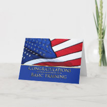 Basic Training Graduation Congratulations- America Card