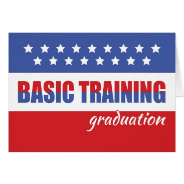 Basic Training Graduation with Stars, Military Card