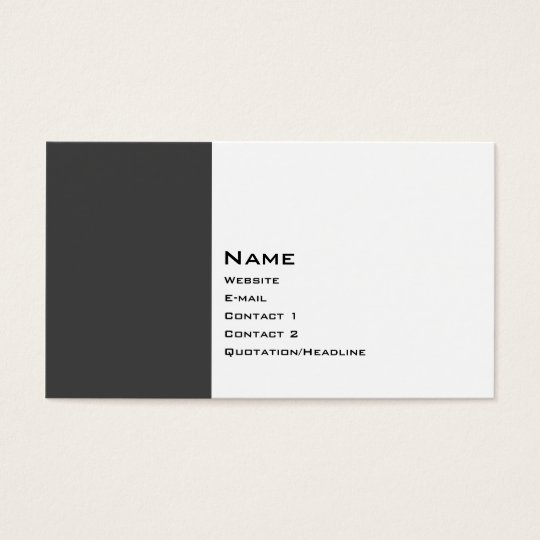 Basic Two Color 2 Business Card