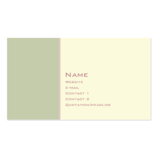 Basic Two Color 3 Business Card