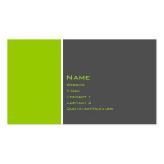 Basic Two Color Business Card