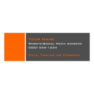 Basic Two Color Orange 2 Business Card Template