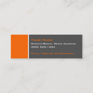 Two color business cards templates zazzle basic two color orange 2 mini business card reheart Choice Image