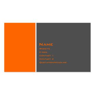Basic Two Color Orange Business Card