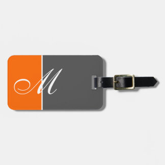 Basic Two Color Orange Tag For Bags