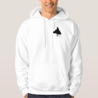 Basic white hoodie with K9-Movies.com logo