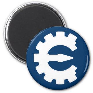 Basic White Logo 2 Inch Round Magnet