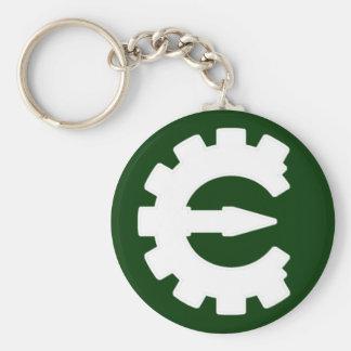 Basic White Logo Basic Round Button Keychain