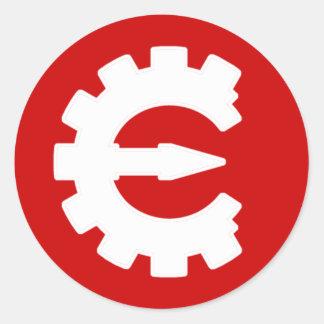 Basic White Logo Classic Round Sticker
