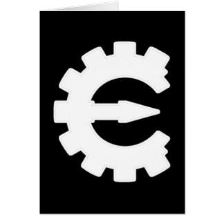 Basic White Logo Stationery Note Card