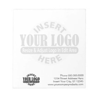 Basic with Business Logo in Background Memo Note Pads