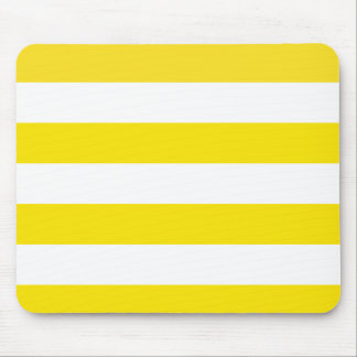 Basic Yellow and White Stripes Pattern Mouse Pad