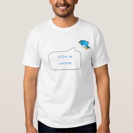 basicbubble, Twitter icon, Follow me, username T Shirt