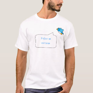 basicbubble, Twitter icon, Follow me, username T-Shirt