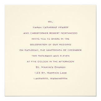 Basics :: Byzantium :: Wedding Invitation