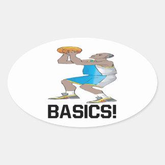 Basics Oval Sticker
