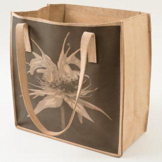 Basil Bee Balm Bergamot Wildflower Leather Tote