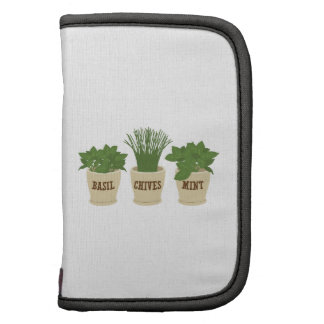 Basil Chives Mint Folio Planners