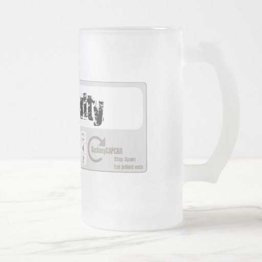 Basil Fawlty Frosted Glass Beer Mug