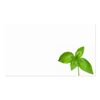 Basil Leaves Isolated On White Background Double-Sided Standard Business Cards (Pack Of 100)