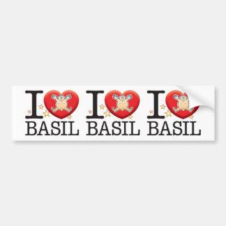 Basil Love Man Bumper Sticker