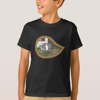 Basil the Pig Kid's and Baby Dark Shirt
