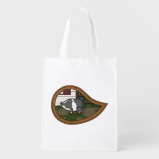 Basil the Pig Reusable Grocery Bag