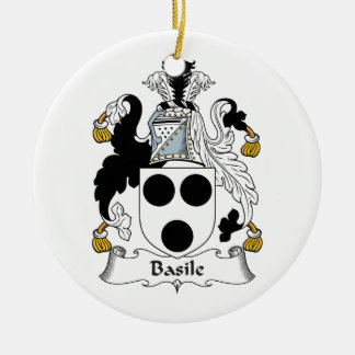 Basile Family Crest Ornament