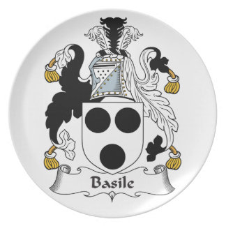 Basile Family Crest Party Plates