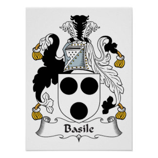 Basile Family Crest Posters