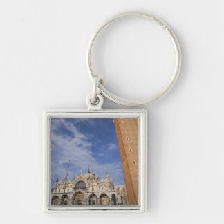 Basilica and Bell Tower St Mark's Square Venice Keychain
