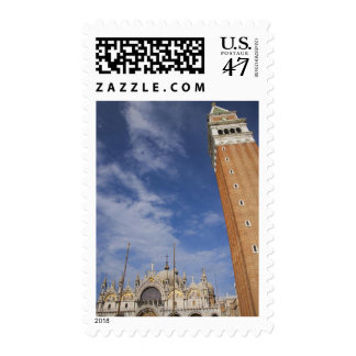 Basilica and Bell Tower St Mark's Square Venice Postage Stamp