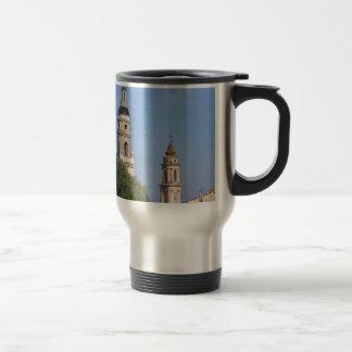 Basilica at Menton in France Travel Mug