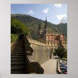 Basilica de Covadonga, España del noroeste Póster