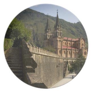 Basilica de Covadonga, northwestern Spain. Plate