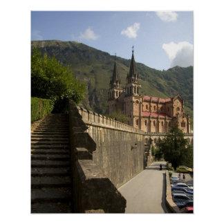 Basilica de Covadonga northwestern Spain Poster