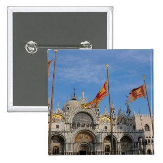 Basílica de Italia, Venecia, St Mark en St Mark Pin Cuadrada 5 Cm