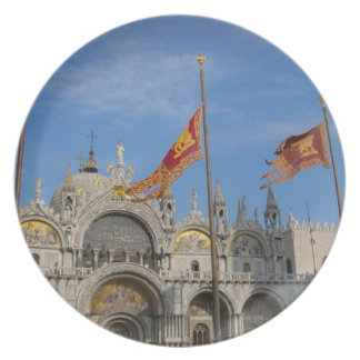 Basílica de Italia, Venecia, St Mark en St Mark Plato De Comida