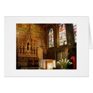 Basílica de la sangre santa tarjeta de felicitación