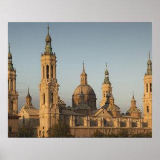 Basilica de Nuestra Senora de Pilar, Ebro River Poster