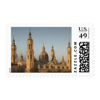 Basilica de Nuestra Senora de Pilar, el río Ebro Sello Postal