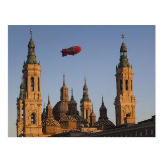 Basilica de Nuestra Senora de Pilar, sunset Postcard