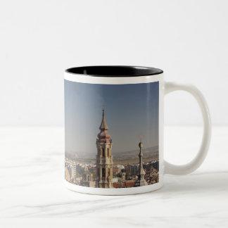 Basilica de Nuestra Senora del Pilar 3 Two-Tone Coffee Mug