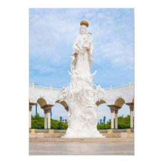 """Basílica de nuestra señora del rosario de invitación 5"""" x 7"""""""